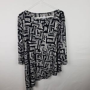 Travelers Chicos Top 3/4 Sleeves Asymmetrical #356